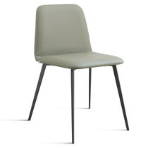 Contemporary chair / upholstered / velvet / beech