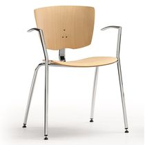 Visitor chair / conference / contemporary / molded plywood
