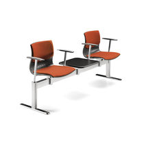 Metal beam chairs / fabric / 3-seater / 2-seater