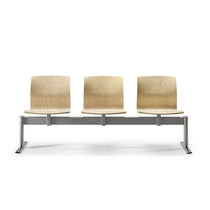 Metal beam chairs / plywood / beech / leather