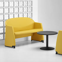 Contemporary sofa / steel / for public buildings / for hotels