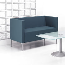 Contemporary sofa / fabric / cast aluminum / for public buildings