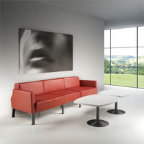 Modular sofa / contemporary / metal / fabric