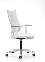 Office armchair / contemporary / on casters / with armrests