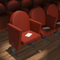 Contemporary auditorium seating / fabric / with armrests / for theaters