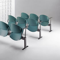 Conference chair / auditorium / contemporary / metal