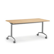 Classroom table / contemporary / glass / metal