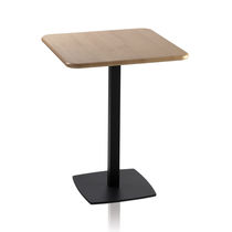 Bistrot table / contemporary / glass / MDF