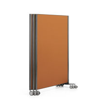 Floor-mounted office divider / laminate / on casters