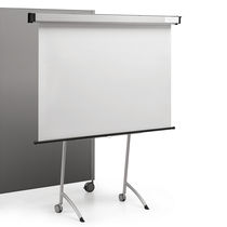 Magnetic board / self-supporting / metal / on casters