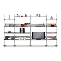 Contemporary shelf / metal / MDF / fabric