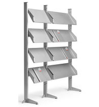 Contemporary magazine rack / residential / commercial / metal