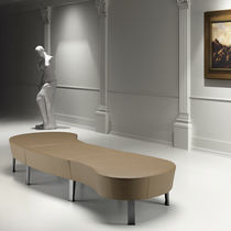 Modular upholstered bench / contemporary / fabric / metal