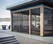 Venetian blinds / aluminum / outdoor / blackout