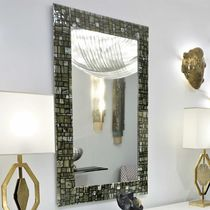 Wall-mounted mirror / contemporary / rectangular / Murano glass