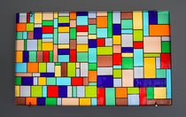 Murano glass decorative panel / wall-mounted / backlit