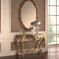 Classic sideboard table / lacquered wood / rectangular / golden