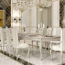 Classic dining table / lacquered wood / rectangular / extending