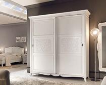 Classic wardrobe / lacquered wood / sliding door