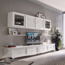 Classic TV wall unit / lacquered wood