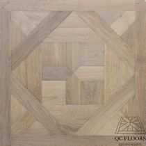 Solid parquet flooring / glued / oak / patina
