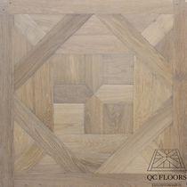 Solid wood flooring / glued / oak / patina