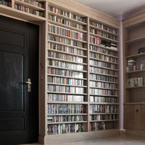 Floor-to-ceiling bookcase / contemporary / school / solid wood