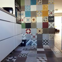 Indoor encaustic cement tile / floor / wall / plain