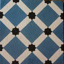 Outdoor encaustic cement tile / floor / geometric pattern / handmade