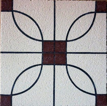 Indoor encaustic cement tile / floor / matte
