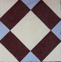 Outdoor encaustic cement tile / matte / handmade