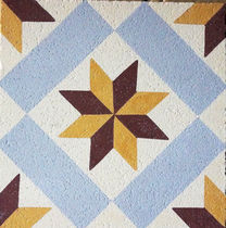 Outdoor encaustic cement tile / floor / geometric / matte