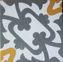 Outdoor encaustic cement tile / floor / matte / handmade