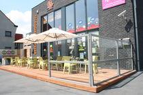 Quadruple patio umbrella / commercial / aluminum