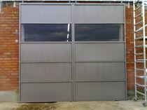Sliding industrial door / metal / for public buildings