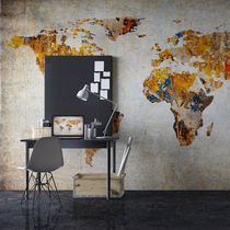 Modern wallpaper / vinyl / map / printed