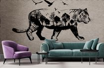 Unique wallpaper / nonwoven fabric / animal motif / sketch