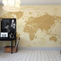 Traditional wallpaper / nonwoven fabric / vinyl / map