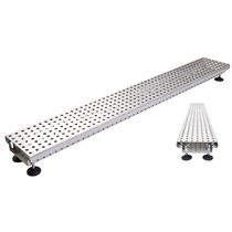 Floor drainage channel / stainless steel / with grating / custom
