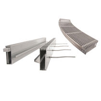 Floor drainage channel / stainless steel / galvanized steel / with grating