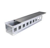 Facade drainage channel / patio / stainless steel / galvanized steel