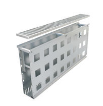 Patio drainage channel / facade / stainless steel / galvanized steel