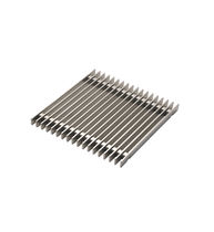 Stainless steel floor drain / square / patio / grated
