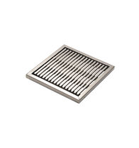 Galvanized steel drain grate / stainless steel / for public spaces / for landscaping