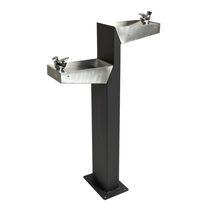 Outdoor drinking fountain / steel / stainless steel