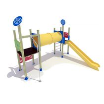 HDPE play structure / wooden / metal / for playgrounds
