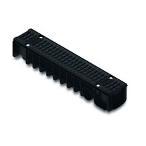Public space drainage channel / polyethylene / with grating