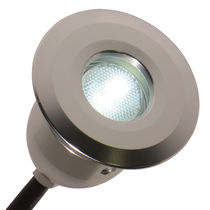 Recessed light fixture / LED / round / outdoor