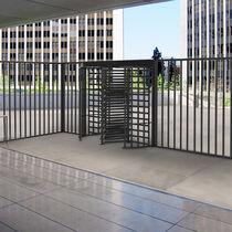Security turnstile / metal / for public buildings