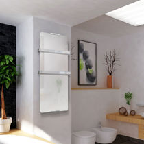 Electric towel radiator / glass / contemporary / bathroom